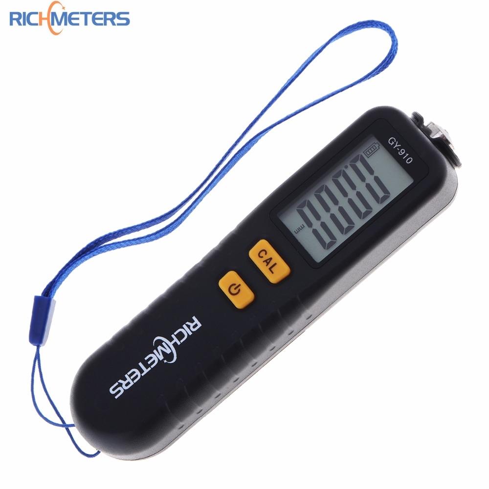GY910 Digital Coating Thickness Gauge 1 micron/0-1300 Car Paint Film Thickness Tester Meter Measuring FE/NFE with Russian Manual