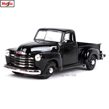 Maisto 1:24 Chevrolet retro pickup Simulation alloy super toy car model For with Steering wheel control front wheel steering toy 1 24 advanced collection model alloy car toy high simulation chevrolet retro pickup diecast metal model vehicle free shipping