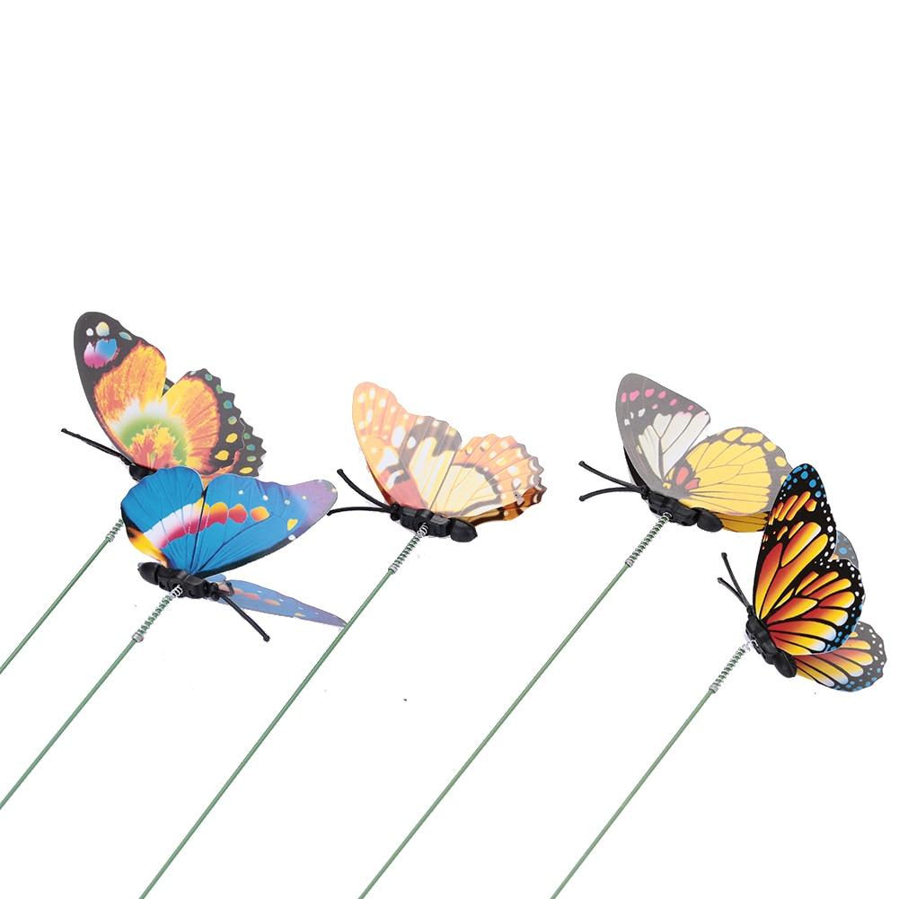 Butterfly Stakes Simulation Schmetterling Hausgarten Pflanzer - Gartenzubehör - Foto 4