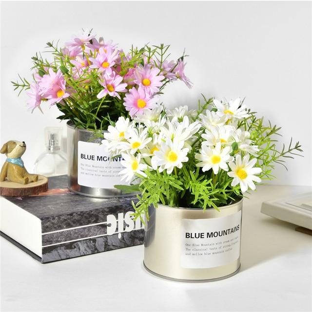 Kreatif Buatan Bunga Matahari + Besi Vas Bunga Simulasi Bunga Palsu Bonsai  Mini Set untuk Pernikahan 99ea1bad41