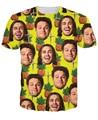 3D James Franco y Seth Rogan camiseta CorssJoints Pineapple Express camisa de las camisetas de mujeres / hombres tamaño S-XXL