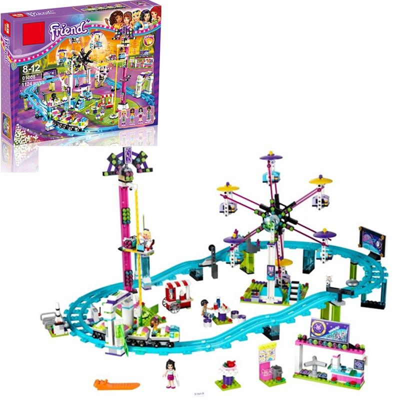 Parc d'attractions Roller Coaster fit Legoinglys Amis Modèle de Blocs De Construction Briques Jouets pour Enfants compatible legopingly Ami