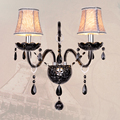 Black K9 Crystal LED Crystal Wall Lamp Bedroom Wall Lamp Cosmetic Lamp Crystal Black Crystal Sconce