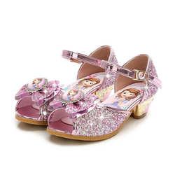 Новые брендовые летние детские сандалии, обувь принцессы для девочек, детские сандалии для свадебной вечеринки, дизайн Софии, обувь для