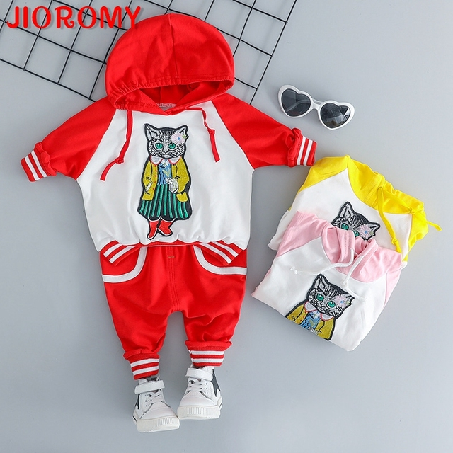 4a46b253a JIOROMY Spring and Autumn New Cartoon Cat Long Sleeve Top Pants 2 ...