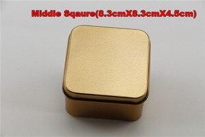 Image 5 - 10 개/몫 장식품, 웨딩 사탕, 잡다한 상품, 귀여운 선물, 철 재료에 대 한 골드 컬러 Tinplate 금속 Stroage 상자