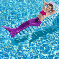 2018 Factory unique design Direct Sale Swimwear Bikini Full Scale Mermaid Tail Cosplay Swimsuit for girls Birthday gifts