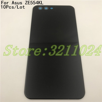 10Pcs Original For ASUS Zenfone 4 ZE554KL Back Battery Cover door Housing Case For ASUS ZE554KL Z01KD Glass Battery Cover+Logo