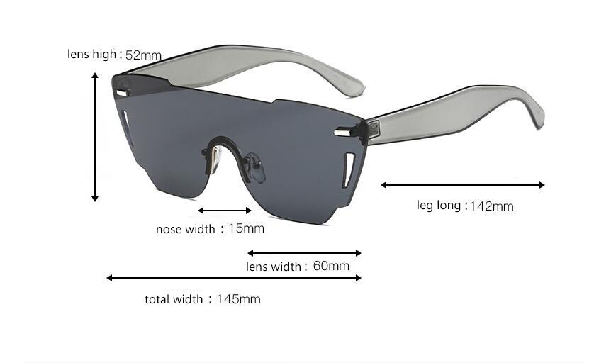HTB1e1hvRXXXXXXyaXXXq6xXFXXXJ - Candy Color Sunglasses Flat Top Rimless Sunglasses