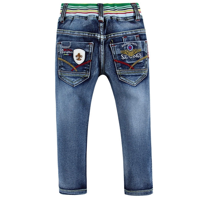 High quality cotton 100% toddler boy jeans with cute embroidery 2015BJ01 B