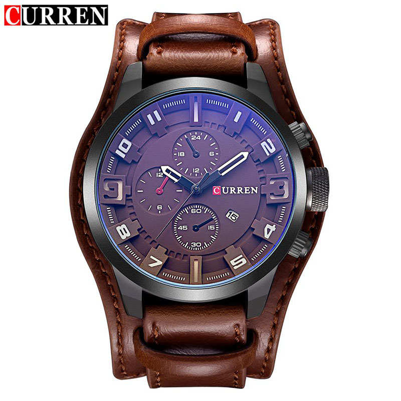 2016 New CURREN Luxury Top Brand Men's Sports Watches Fashion Casual Quartz Watch Men Military Wrist Watch Male Relogio Time curren luxury top brand men s sports watches fashion casual quartz watch steampunk men military wrist watch male relogio clock