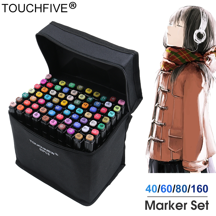 marcador touchfive 30 40 60 80 168 cores da caneta pincel caneta de tinta a base