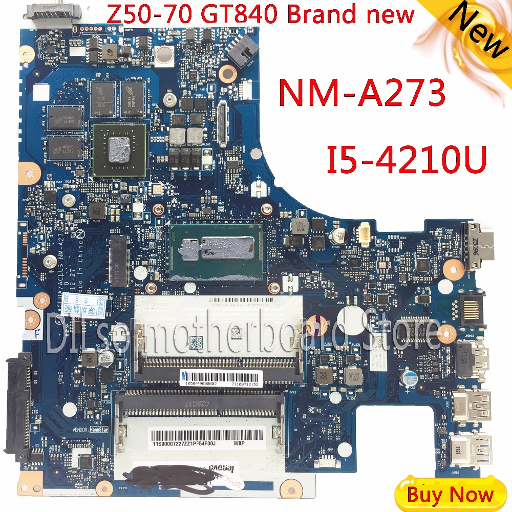 KEFU G50-70M Pour Lenovo G50-70 Z50-70 i5 carte mère ACLUA/ACLUB NM-A273 Rev1.0 avec carte graphique Test