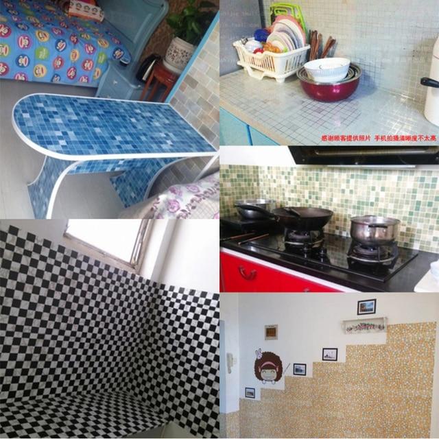 5M /10M New Bathroom Tiles Waterproof Wall Sticker Vinyl PVC Mosaic Self adhesive Anti Oil Stickers DIY Wallpapers Home Decor