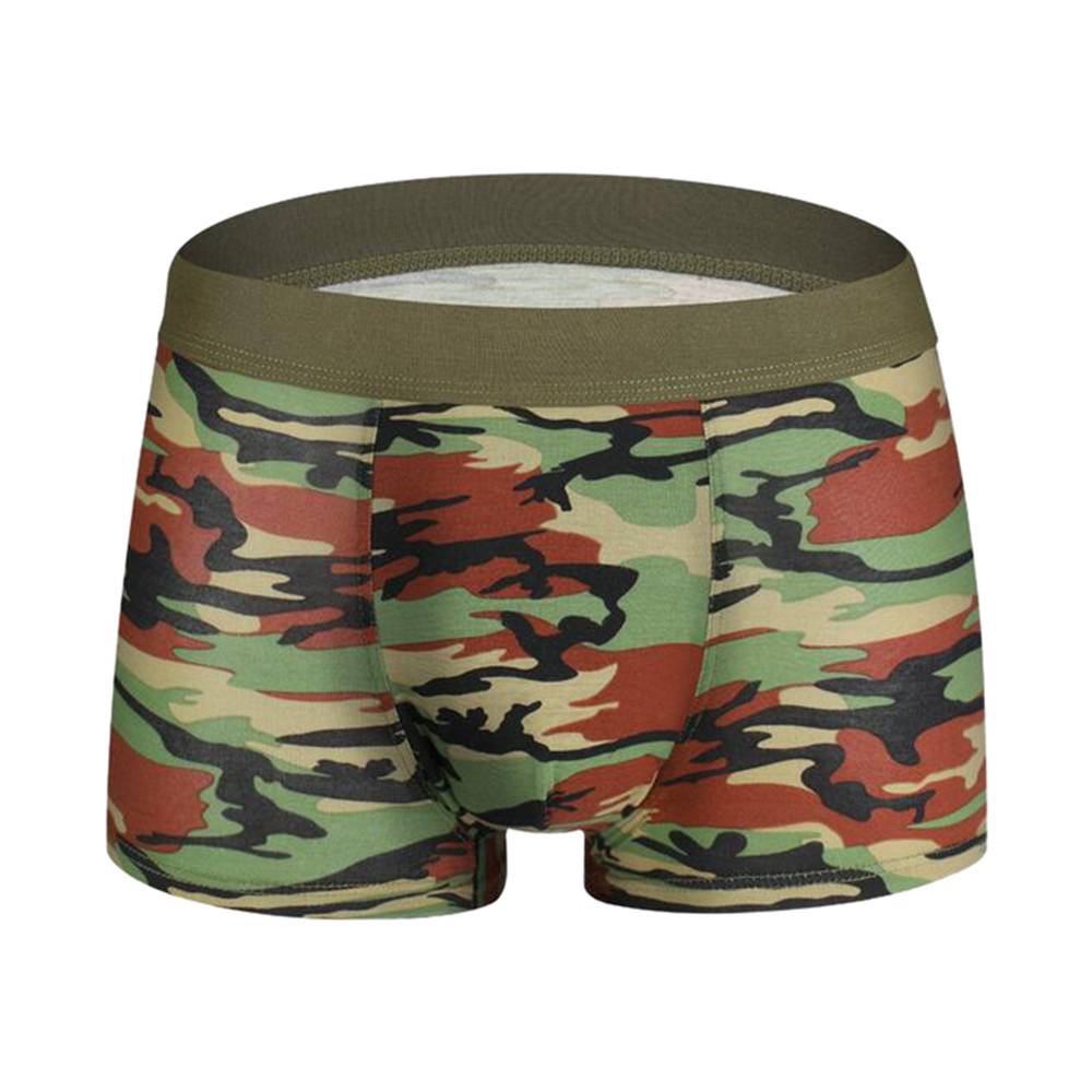 4 Pack Mens Underwear Cotton Boxer Briefs Shorts Pouch Soft Underpants Knickers