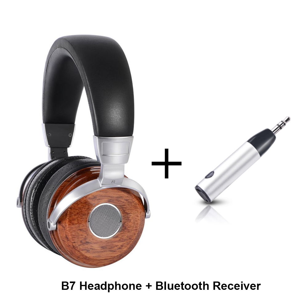 ihens5 B7 Wooden Headphones Headband HiFi Diy Music Wired Headset Monitor Headphones For Phone Computer with bluetooth Receiver