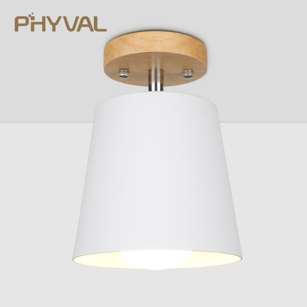 LED Ceiling Light Iron Wood ceiling lamps Nordic Modern Ceiling Lamp for Living Room Bedroom Decoration Fixture Corridor Kitchen