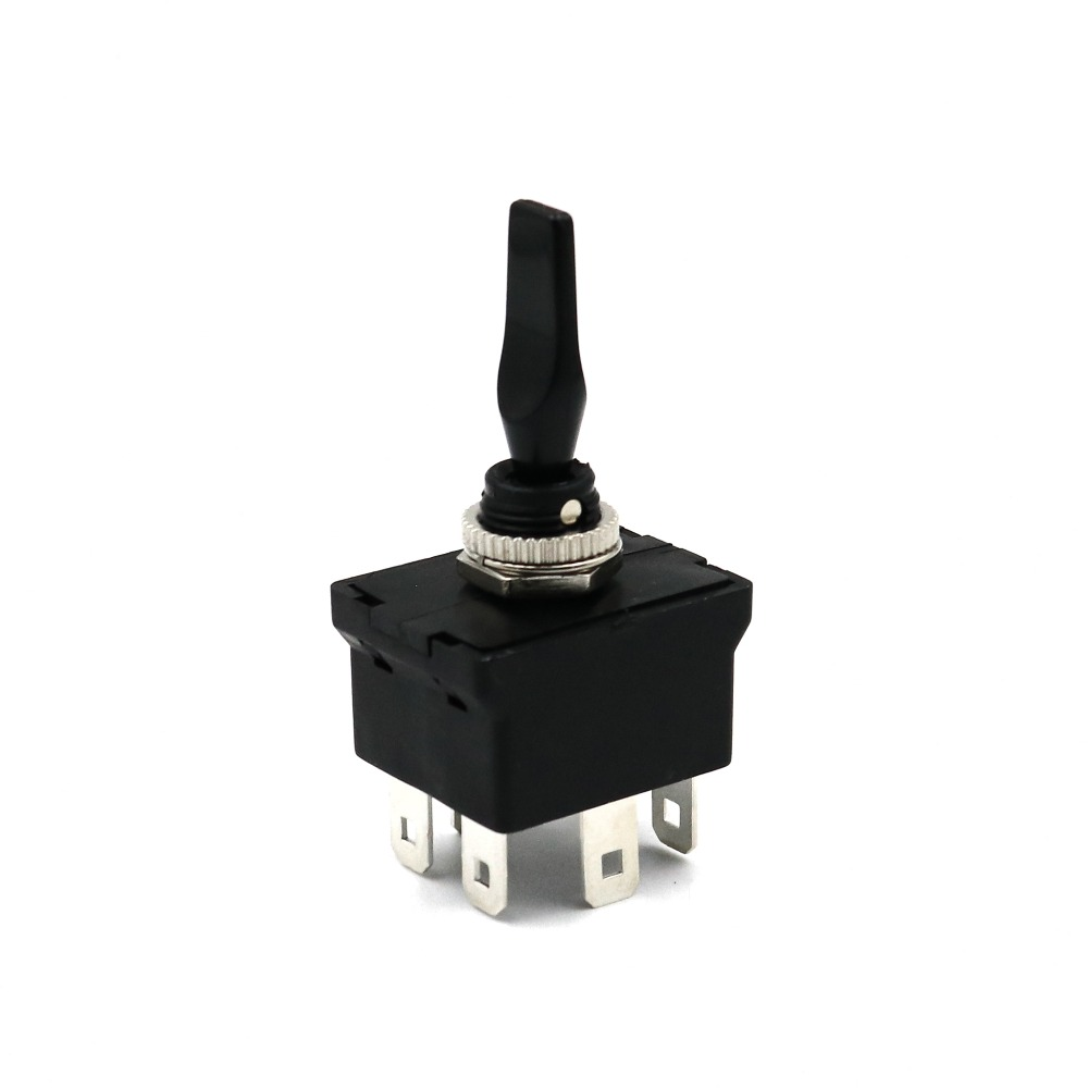SCI R13-54B 6Pin Momentary MON-OFF-MOM Self-Return DPDT 12mm Car Toggle Switch DC12V 20A