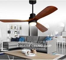 Американский Ретро потолочный вентилятор света Скандинавская Современная гостиная спальня гостиная кафе твердый деревянный веер лампа