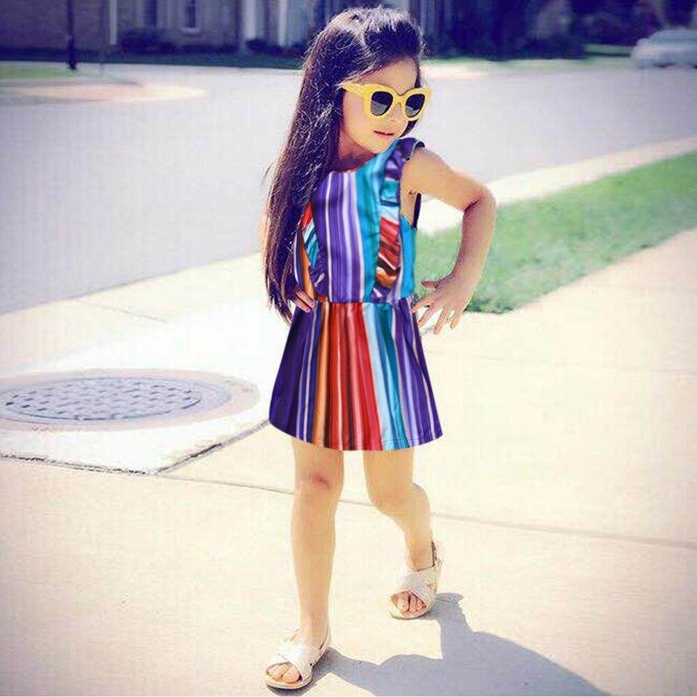 3a1a12ae3 Telotuny de las niñas, vestido de arco iris rayas niños vestidos para  niñas, ropa de bebé niña de 3 años recién nacido bebé niño niñas ...