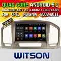 WITSON Android 5.1 Quad Core CAR DVD for OPEL INSIGNIA 2008-2011 NAVIGATION STEREO+1024X600 SCREEN+DVR/WIFI+DSP+RDS+16GB flash