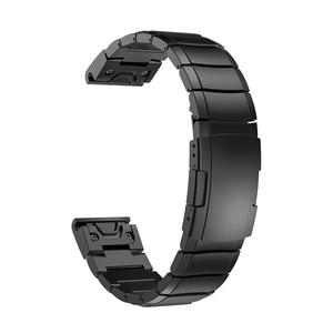 Image 4 - 26 22 20MM Watchband Strap for Garmin Fenix 5X 5 5S 3 3HR D2 S60 GPS Watch Quick ReleaseStainless steel strip Wrist Band Strap