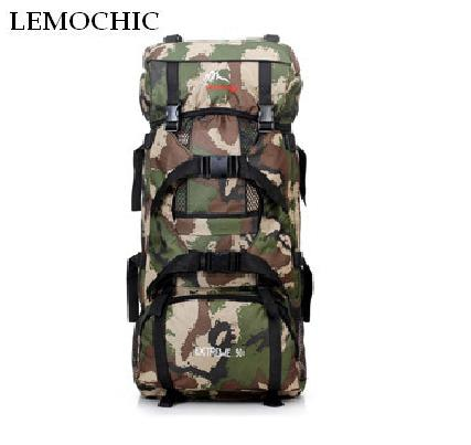 LEMOCHIC 80L new military camouflage tactical outdoor climbing mountaineering spots bag travel hiking Travel Camping backpack 80l large capacity travel hiking camping backpacks bag shoulder riding tactical camouflage military backpack
