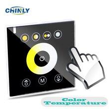 Fai da Te Casa di Illuminazione Temperatura di Colore Del Led di Tocco Interruttore Sul Pannello Led Controller Dimmer per DC12V Luci di Striscia Del Led