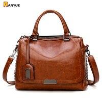 Brand Rivet Women Handbag Large Capacity Women Bag Casual Tote Women Soft Pu Leather Handbags Female