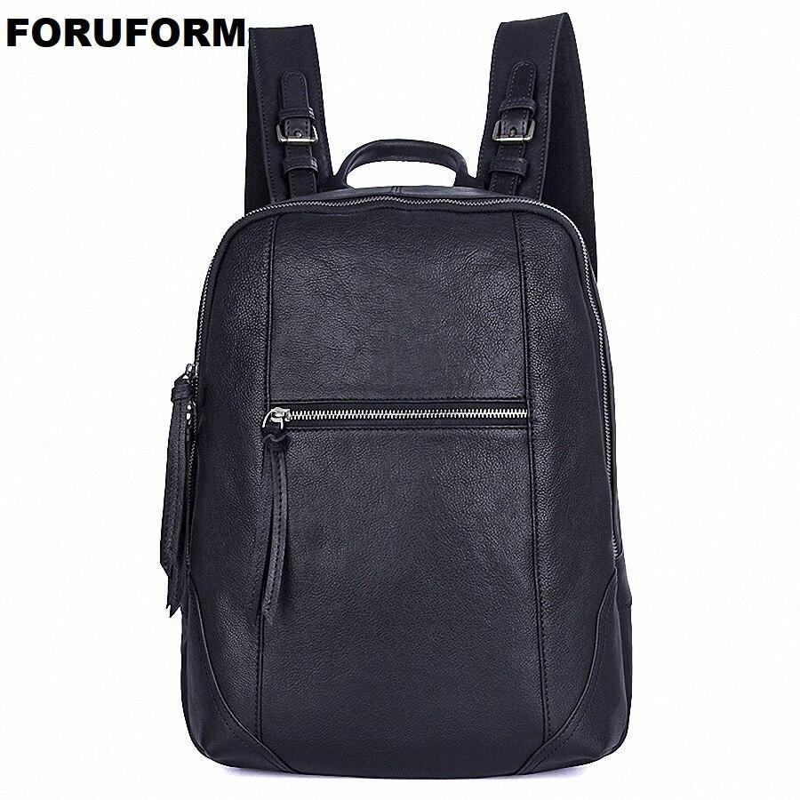 Men Backpack Genuine Leather Male Shoulder Bag Large Capacity Travel Bags For Man Trendy Business Laptop Bag School Bag LI-1992