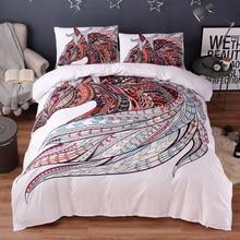 الحصان طقم سرير HD طباعة القبلية الخيول حاف مجموعة غطاء التوأم كامل الملكة الملك الحجم 3 قطعة الفراش