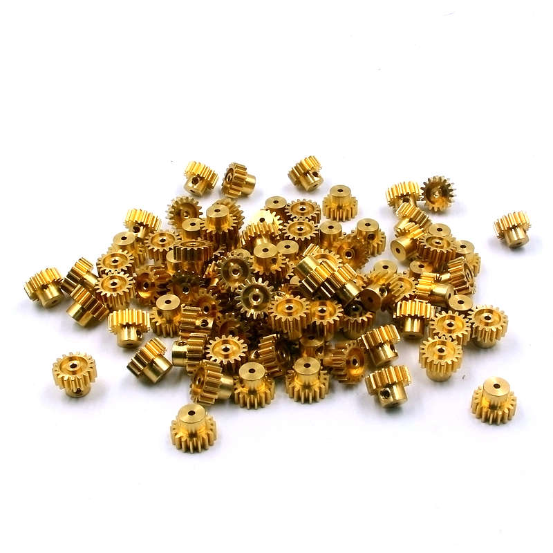 17T brass pinion gear central hole diameter 2.0mm M0.7 for RC cars HSP WLtoys A949 A959 A969 A979 update metal accessory 11184 steel metal spur diff main gear 64t motor pinion gears 17t 21t 26t 29t 11189 11176 11181 11119 for rc hsp redcat rc truck