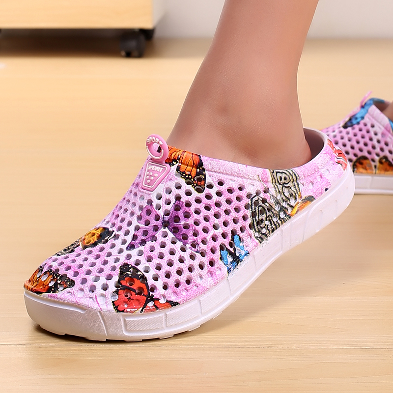 2019 womens casual Clogs Breathable beach sandals valentine slippers summer slip on women flip flops shoes home shoes for women 3