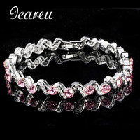 Women Magnetic Health Bracelets Therapy Pink Charm Fashion Bracelets For Health