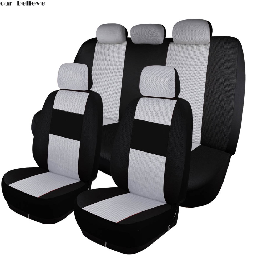 Car Believe leather car seat covers For peugeot 206 407 508 308 301 3008 2017 205 106 307 207 car accessories seat covers leather full car set seat covers auto pads with supplies office chair for peugeot 408 2008 3008 308 508 308s 301 307 207