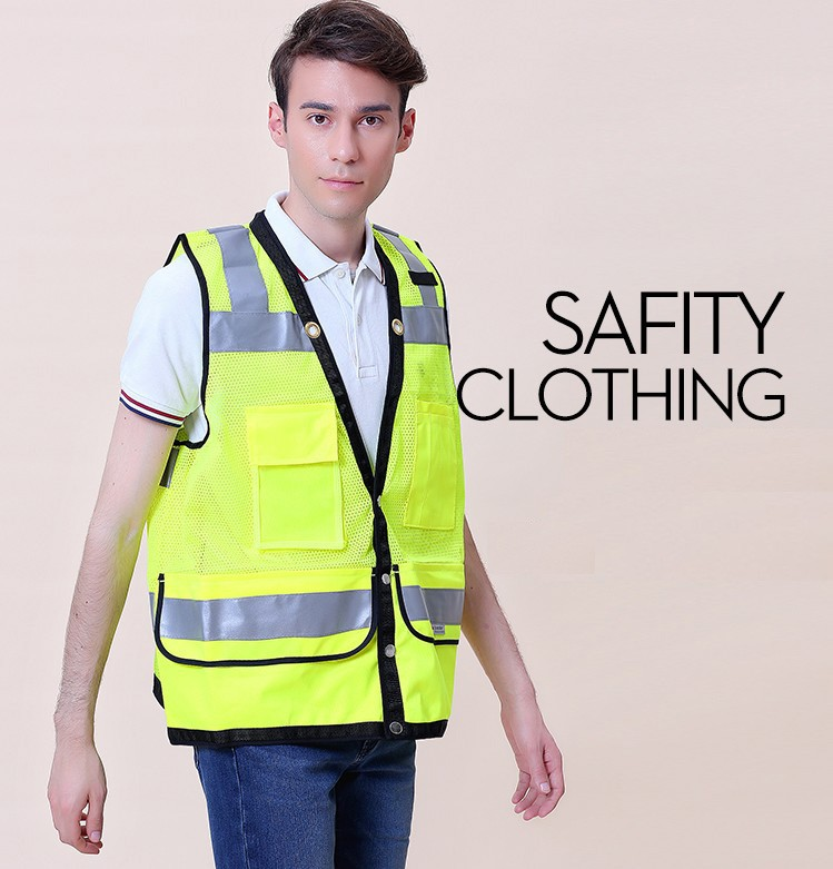 Safety Clothing Romantic Sfvest En471 Hi Vis Vest Safety Vest With Logo Printing Workwear Safety Jacket Free Shipping Workplace Safety Supplies