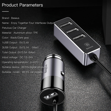Baseus 4 USB Car Phone Charger