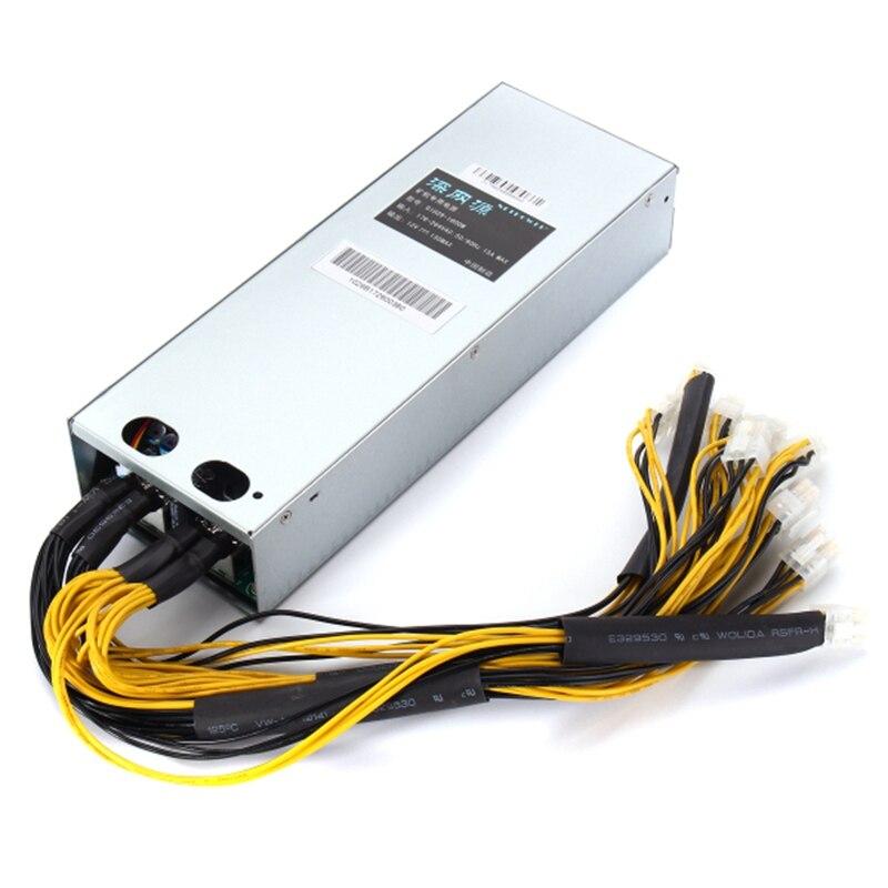 176-264V AntMiner APW3-12-1600 PSU Mining Machine 1600W Power Supply High Quality computer power Supply For BTC 2016 new antminer apw3 12 1600 a3 1600w s5 s5 s7 psu power supply bitmain antminer apw3 12 1600 psu series 1u psu s9