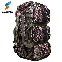 Popular de alta calidad 90L de gran capacidad al aire libre militar bolsas de viaje oxford/lona mochila de camuflaje bolsa de lona mochila impermeable