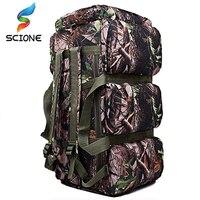 Quente de alta qualidade 90l grande capacidade ao ar livre militar sacos viagem oxford/lona mochila camuflagem mochila mochila à prova dwaterproof água