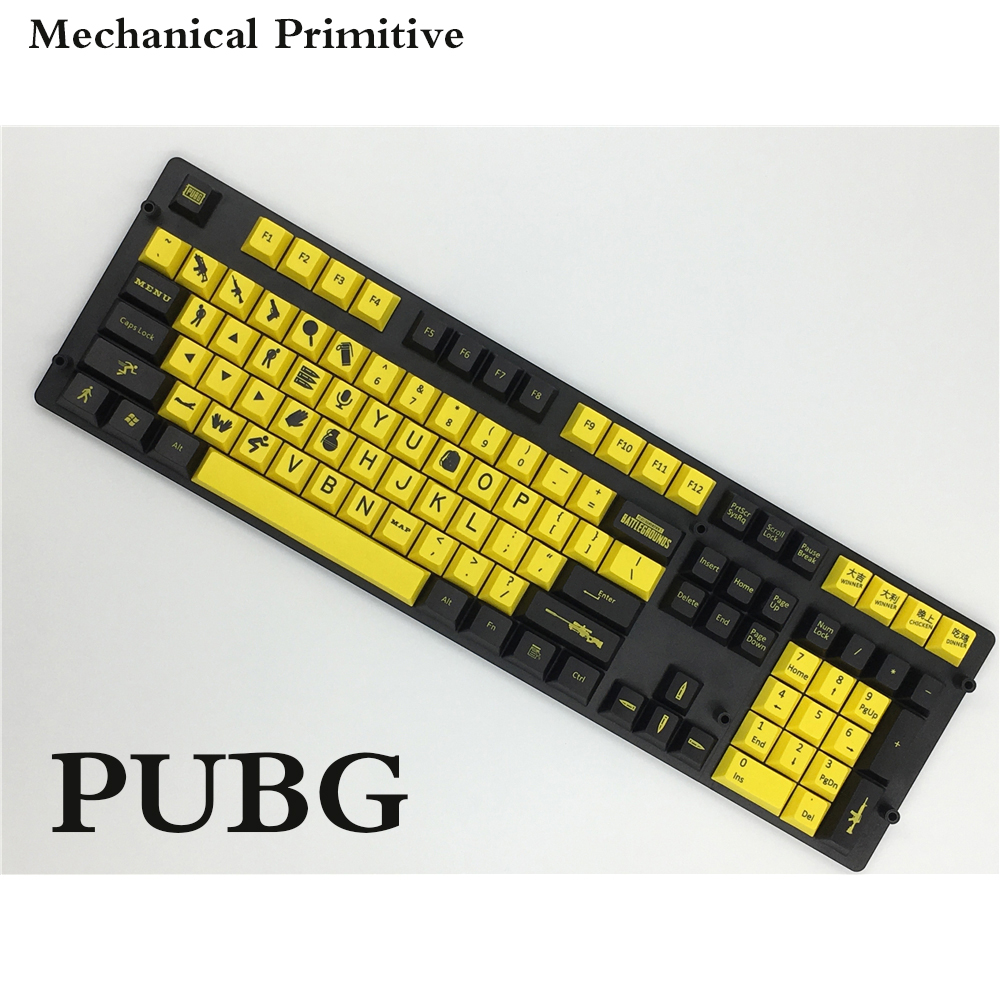 MP PUBG Keycap 156 Keys Dye Sublimation PBT Cherry Profile For Mechanical Gaming Keyboard