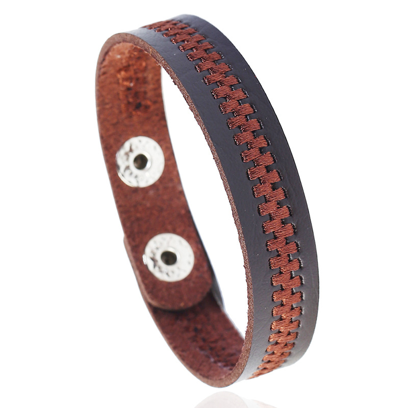 Lucky Vintage Men's Leather Bracelet Cross Charm Multilayer Braided Women Adjustable Bracelets Family Couple Friendship Male