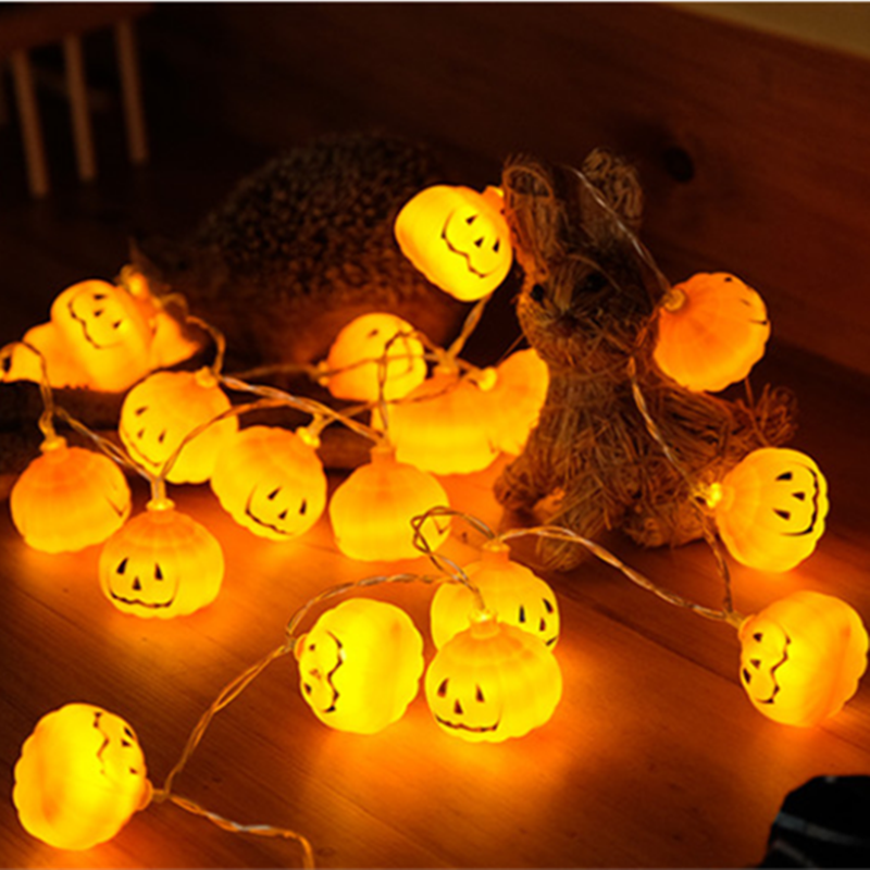 2019 Nowy 1 Zestaw Dynia 10 Led łańcuchy świetlne Halloween światła Dekoracyjne Ciepły Biały Halloween Do Odmu Dekoracji Akcesoria