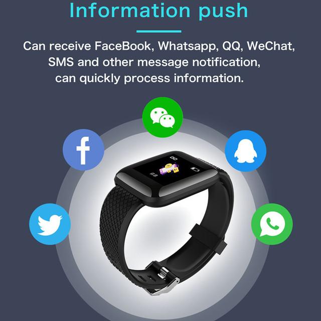 Reloj Banda inteligente de fitness banda inteligente rastreador de Fitness pulsera reloj inteligente de presión arterial Monitor de ritmo cardíaco