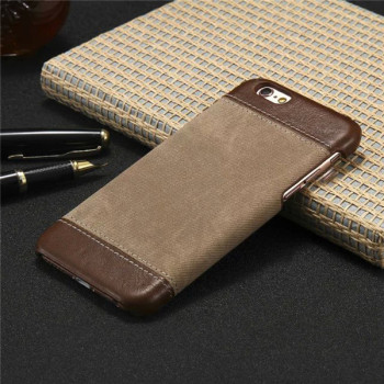 iPhone 6s Plus Leather Case Slim Cover Retro Style Cloth Skin