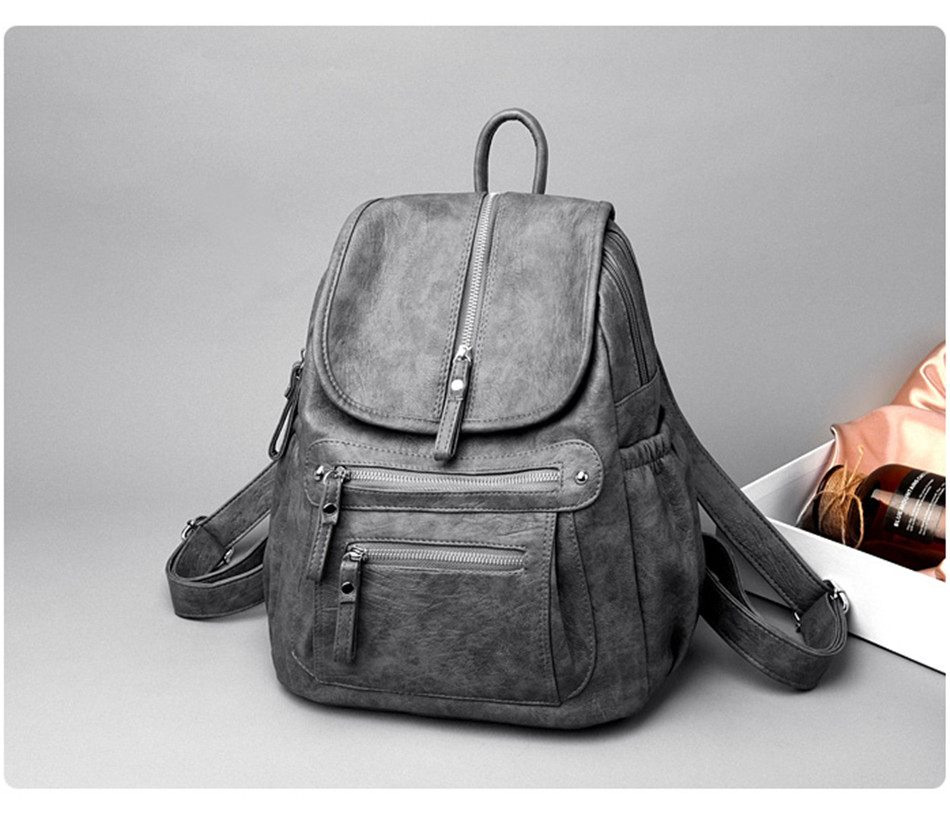 HTB1e1lHaUvrK1RjSspcq6zzSXXak Women Backpack Female High Quality Soft Leather Book School Bags For Teenage Girls Sac A Dos Travel Back pack Rucksacks Mochilas