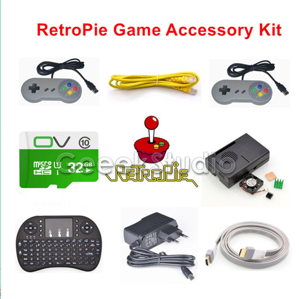 32GB RetroPie Game Console Accessories Kit for Raspberry Pi 3 Model B, Not include Raspberry Pi стоимость
