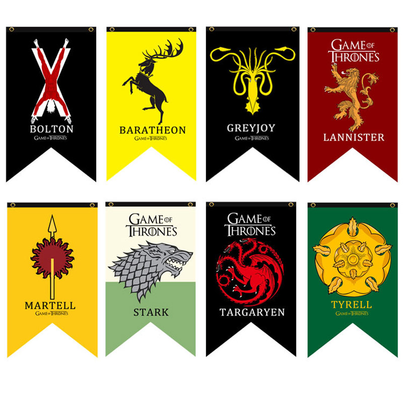 Game Of Thrones Stark Flag Rights Games Banner 100d Games Decorate