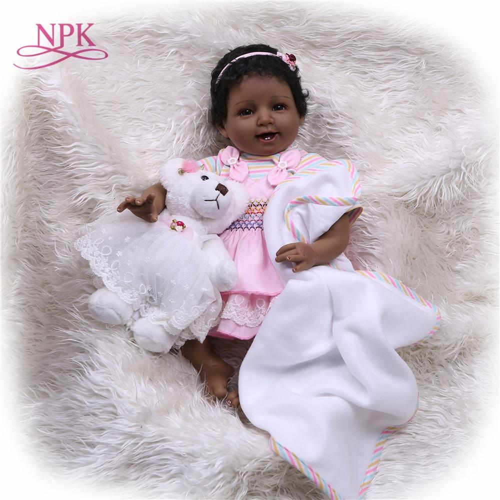 NPK 55cm Bebes Reborn Doll Soft Silicone Girl Toy Reborn Baby Doll Gift for Children s