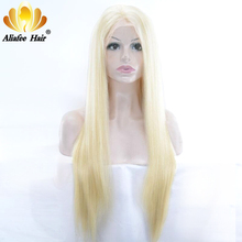 Ali Afee Hair #613 Blue/Red/Pink/Purple/Yellow Colorful Brazilian Straight Pre Plucked Lace Frontal Wig Hair Remy Human Hair